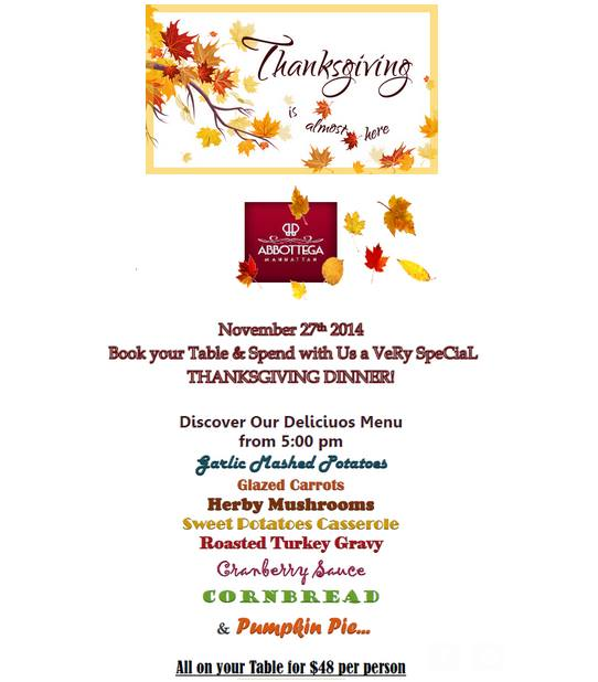 Abbottega ThanksGiving